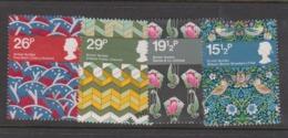 Great Britain SG 1192-1195 1982 British Textiles,used - 1952-.... (Elizabeth II)
