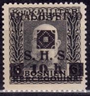 Yugoslavia KIngdom SHS,1918-19, Bosnia Issue, 10/6h, MNH - 1919-1929 Kingdom Of Serbs, Croats And Slovenes