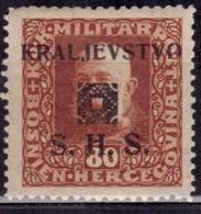Yugoslavia KIngdom SHS,1918-19, Bosnia Issue, 80h, MNH - 1919-1929 Kingdom Of Serbs, Croats And Slovenes