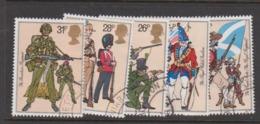 Great Britain SG 1218-1222 1983 Army Uniforms,used - 1952-.... (Elizabeth II)