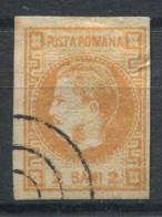 Roumanie 1868 Mi. 17 Oblitéré 20% 2 B, Prince Charles I - 1858-1880 Moldavie & Principauté