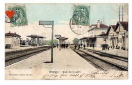 41484-ZE-91-Bretigny-Quai De La Gare---------------animée - Bretigny Sur Orge