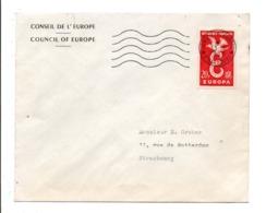 OBLITERATION MECANIQUE CONSEIL DE L'EUROPE STRASBOURG - SESSION DU 13/10/1958 - Marcophilie (Lettres)