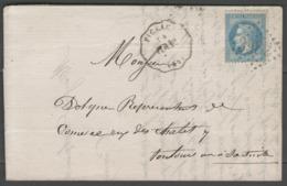 Lot:  N°29B Oblitéré G.C.3982 + Convoyeur FIGEAC (PER.Tse) Sur LAC De 1869 - Marcofilie (Brieven)