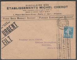 N°140k (roulette) Oblitéré PARIS Sur LSC Du 7/8/1927 ! - Postmark Collection (Covers)