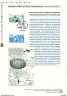 """"""" A. PEGOUD : 100 ANS DU PARACHUTISME """" Sur Document Philatélique Officiel 1er Jour De 2013  N°YT PA 76 Parf état ! - Parachutting"""