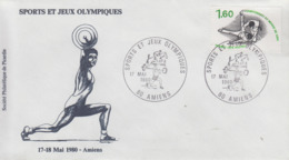 Enveloppe   FRANCE    Sports  Et  Jeux   Olympiques   AMIENS    1980 - Olympic Games
