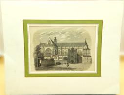Gravure Sur Bois 'Façade De L'eglise De St-Jacques à Liège', 1844/ Wood Engraving 'Facade Of The Church St. James Liege' - Estampes & Gravures