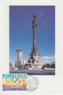 Carte  1er  Jour  ESPAGNE   Jeux  Olympiques  D' Hiver   ALBERTVILLE   1992 - Invierno 1992: Albertville