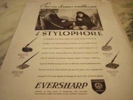 ANCIENNE PUBLICITE POUR VOS ETRENNES PORTE PLUME EVERSHARP  1929 - Other Collections