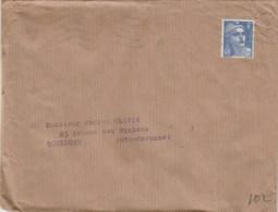 GANDON 4F YT 717 SEUL SUR LETTRE AU TARIF 2E ECHELON PARIS 10/1/46 (faible) POUR TOULOUSE - 1921-1960: Periodo Moderno
