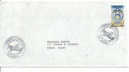 OBLITERATION EXPO PHILA HOMMAGE A L'AEROPOSTALE à GANNAT ALLIER 1983 - Marcophilie (Lettres)