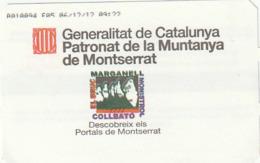 TICKET - ENTRADA / GENERALITAT CATALUNYA PATRONAT MONTANYA MONTSERRAT - PARKING 2012 - Tickets - Entradas