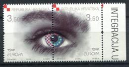 Croatie (Hrvatska) 2006 Mi. 772-773 Neuf ** 100% Eyes, Europe CEPT - Croacia