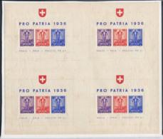 Suisse 1936 Mi. Bl. 2 Bloc Feuillet 40% Neuf ** Pro Homeland (en) - Blokken