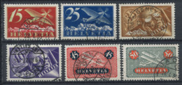 Suisse 1923 Mi. 179-184 Oblitéré 100% Poste Aérienne - Luchtpostzegels