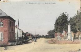 Beaurepaire-sur-Sambre (Nord) La Route De Prisches En 1927 - L.S. Edition - Carte Colorisée N° 8 - Francia