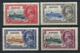 Barbade 1935 Mi. 148-151 Neuf * 100% Jubilé, Roi George V - Barbados (...-1966)