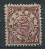 Chine 1897 Mi. 35 Neuf * 100% 1/2 C, Dragon, IMPERIAL CHINESE - China