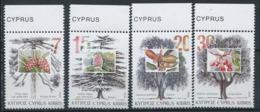 Chypre 1994 Mi. 827-830 Neuf ** 100% Arbres - Chypre (République)