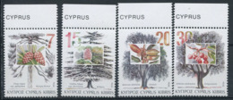 Chypre 1994 Mi. 827-830 Neuf ** 100% Arbres - Cyprus (Republiek)