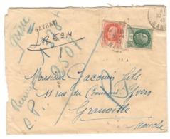 22027 - Recommandé Provisoire De GAVRAY - Storia Postale
