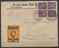 Empire Allemand 1922 Enveloppe 100% Fahrrad-Handlung, Bad Harzburg - Duitsland