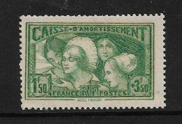 France Timbre De 1931 N°269 Caisse D'amortissement Neuf * Tres Petite Charnière Voir Scan - Caisse D'Amortissement