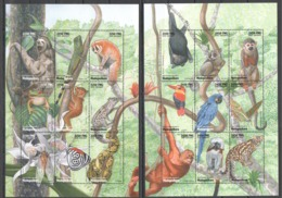 X700 1998 MADAGASIKARA FAUNA WILD ANIMALS REPTILES INSECTS 2KB MNH - Stamps