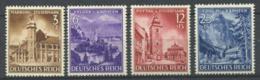 Empire Allemand 1941 Mi. 806-809 Neuf ** 80% Monuments, Vienne - Allemagne