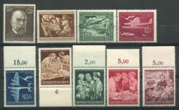 Empire Allemand 1944 Mi. 864-872 Neuf ** 100% Koch, Avion, Sauvetage - Duitsland