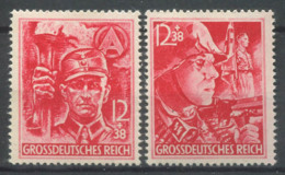 Empire Allemand 1945 Mi. 909-910 Neuf ** 100% SA, Soldat SS - Allemagne