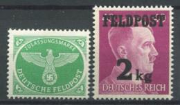 Empire Allemand 1944 Mi. 3,4 Neuf ** 100% * Champ, Aigle - Allemagne