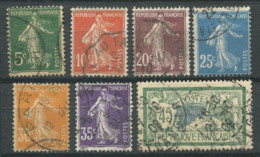 France 1907 Yv. 137-141,143 Oblitéré 100% Sewer, Merson - France