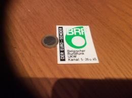 AUTOCOLLANT, Sticker «BRF Belgischer Rundfunk UKW Kanal 5-26u.45» (Belgique, Radio, Télévision) - Aufkleber