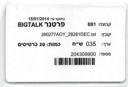 Bigtalk Card In Sealed Plastic Envelope - Phonecards