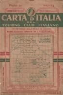 9503-CARTA D'ITALIA DEL TOURING CLUB ITALIANO-NAPOLI-1934 - Carte Geographique