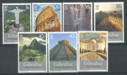 Gibraltar 2008 Mi. 1274-1280 Neuf ** 100% Sept Merveilles Du Monde - Gibraltar