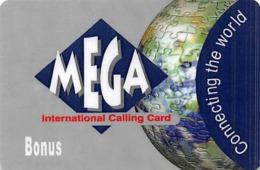 Mega International Calling Card - Tarjetas Telefónicas