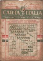 9504-CARTA D'ITALIA DEL TOURING CLUB ITALIANO-BENEVENTO-1938 - Mapas Geográficas