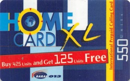 Home Card XL 550 Units Exp Date 11-Aug-02 - Phonecards