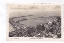 CPA PHOTO ALICANTE, VISTA GENERAL DEL PUERTO En 1954! - Alicante