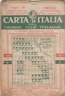 9505-CARTA D'ITALIA DEL TOURING CLUB ITALIANO-FOGGIA-1939 - Carte Geographique