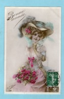 Jolie Jeune Fille - Magnifique Chapeau -1909 - (C.de Antonia) - - Femmes
