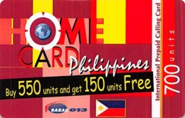 Home Card Philippines 700 Units Exp 07/08/05 - Zonder Classificatie