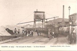 ROANNE (42) En 1903 - Sur Les Quais Du Bassin - La Grue Bonnaud (Superbe Animation) - Roanne
