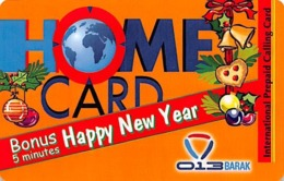 Home Card Bonus 5 Minutes Happy New Year Exp Date 14/12/04 - Phonecards