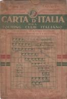 9506-CARTA D'ITALIA DEL TOURING CLUB ITALIANO-TARANTO-1938 - Mapas Geográficas
