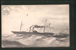AK Passagierschiff SS Cambria Im Sturm, London & North Western Railway Company, Holyhead & Dublin Service - Paquebots