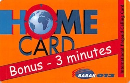 Home Card Bonus 3 Minutes - Tarjetas Telefónicas